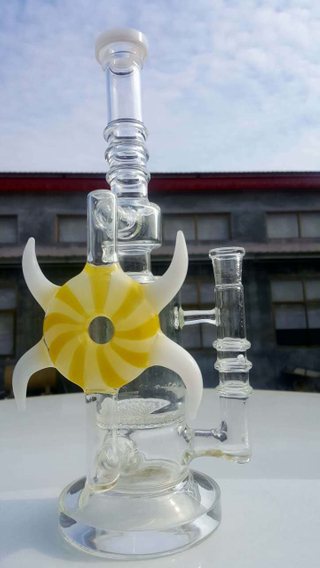 QYF2504-glass water pipes made by US imported Pyrex glass