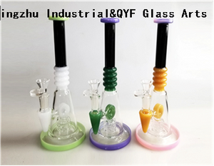 QYF09017---Pyrex Glass Bongs For Cannabis Smoking