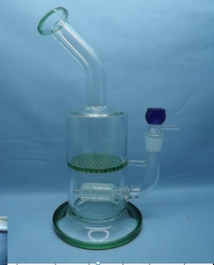 QYF2331-Pyrex Percolator Glass Bongs for Cannabis