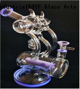 QYF46---Pyrex Glass Bongs For Cannabis Smoking