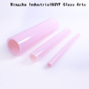 TY Milky Pink Color Borosilicate 3.3 Glass Tube