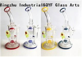 QYF09012---Pyrex Glass Bongs For Cannabis Smoking
