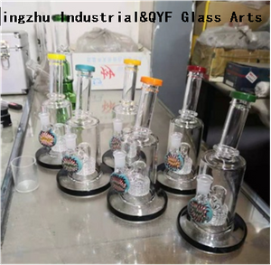 QYF27---Pyrex Bongs Made of US borosilicate 3.3 glass rods