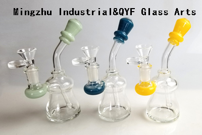 QYF09021---Pyrex Glass Water Pipes For Drugs Smoking