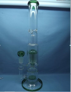 QYF2324-Big Size Percolator Glass Bongs for Cannabis
