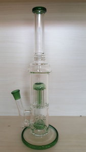 QYF2393--Sprinkler Percolator Glass Bongs
