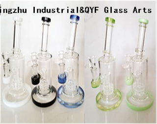QYF09020---Pyrex Glass Bongs For Cannabis Smoking