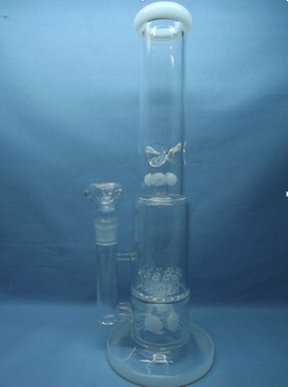 QYF2319-Sprinkler Percolator Glass Smoking Water Pipes